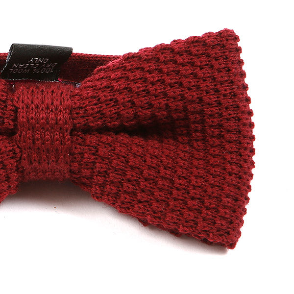 Red Wool Bow Tie | One of One