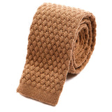 Brown Raised Knitted Wool Tie | One of One