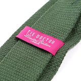 Green Polka Dot Knitted Wool Tie | One of One