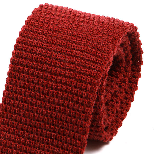Fina Red Knitted Wool Tie | One of One