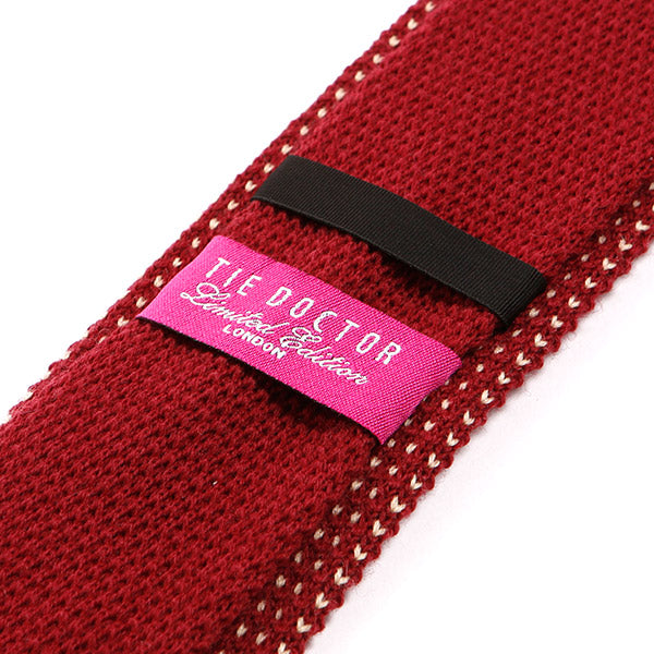 Red Star Knitted Wool Tie