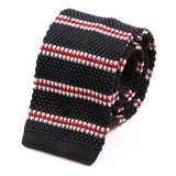 Navy And Red Striped IV Silk Knitted Tie