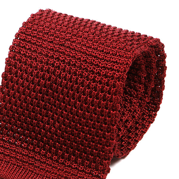 Wide Red Silk Knitted Tie | One of One