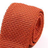 Orange Raised Silk Knitted Tie | One of One