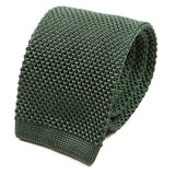 Wide Green Silk Knitted Tie | One of One