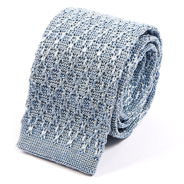 Light Blue Net Silk Knitted Tie | One of One