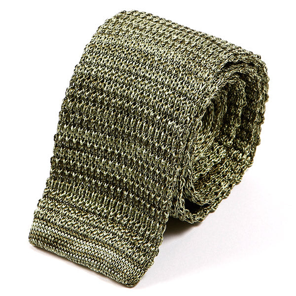 Pear Green Mesh Silk Knitted Tie