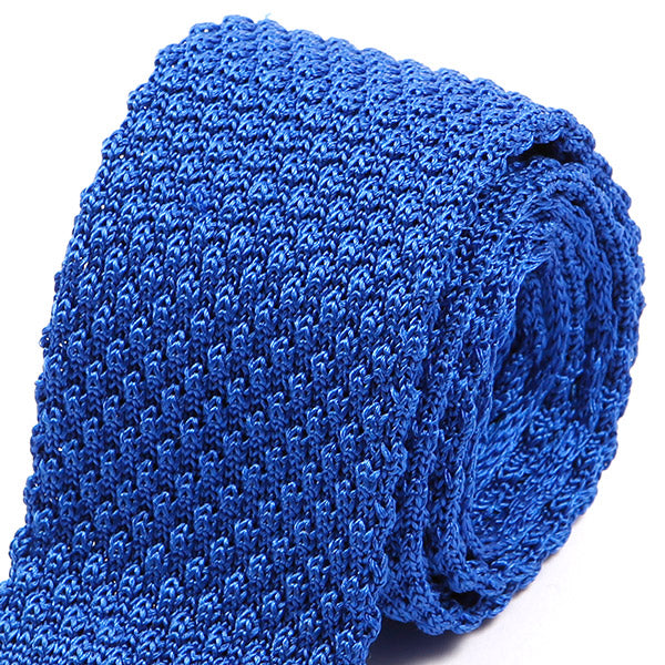 Blue Raised Silk Knitted Tie | One of One