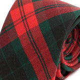 Red Tartan Wool and Silk Necktie Blend