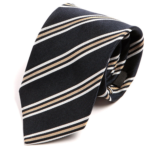 Navy Striped Silk Necktie, One of One