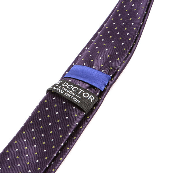 Purple Polka Dot Skinny Tie