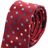 Jude Red Polka Dot Skinny Tie