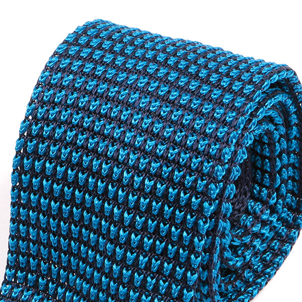Blue One of One Silk Knitted Tie