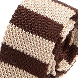 Brown Slim Silk Knitted Tie, One of One