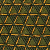 Green Vintage Geo Wool Tie - Handmade Silk Wool And Knitted Ties by Tie Doctor