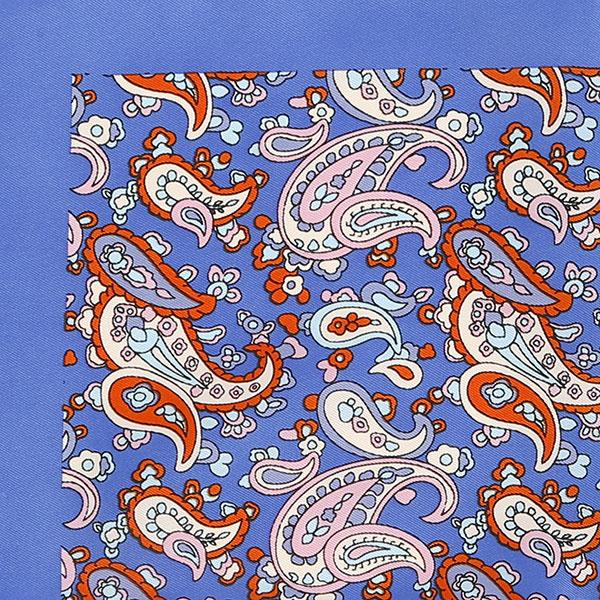 Blue & Red Paisley Square - Handmade Silk Wool And Knitted Ties by Tie Doctor