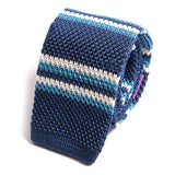 Blue Triumph Silk Knitted Tie, One of One