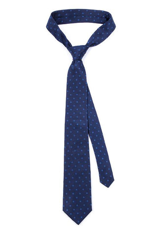 Copy of Navy Starred Knitted Tie