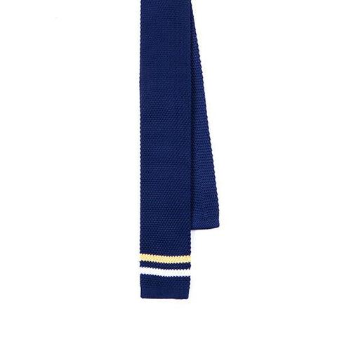BLUE YELLOW & WHITE STRIPE KNITTED TIE - TIE DOCTOR online