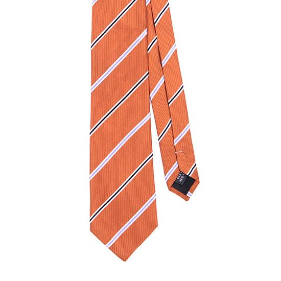 ORANGE NEW AGE SILK TIE - Handmade Limited Edition Ties by Tie Doctor