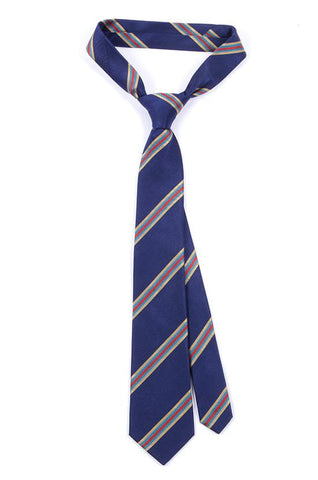 BLUE PATTERNED SILK TIE