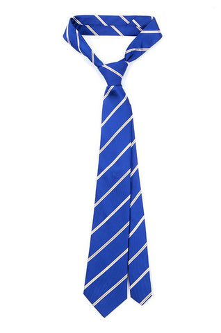BLUE NEW AGE SILK TIE