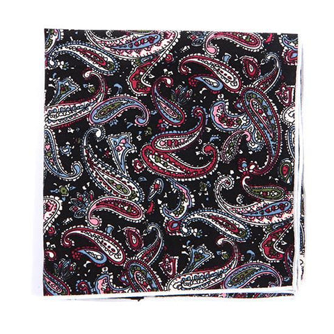 BLACK PAISLEY POCKET SQUARE - TIE DOCTOR online