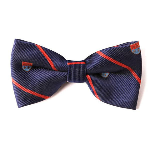 Navy Campus Bow Tie - Handmade Silk Wool And Knitted Ties by Tie Doctor