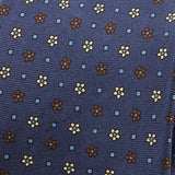 Navy Floral Extra Long Macclesfield Silk Tie