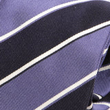 Purple Striped Silk Tie