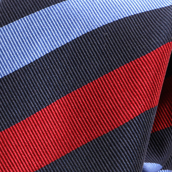 Navy And Red Striped Silk Tie