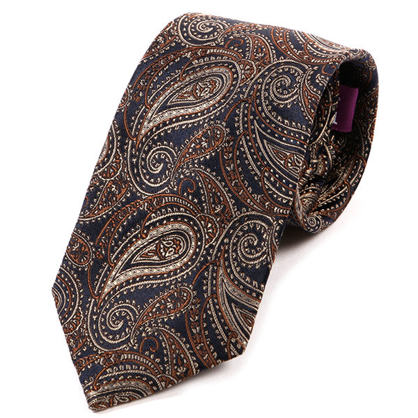 Vintage Brown Paisley Silk Tie