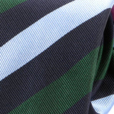 Light Blue And Green Striped Silk Tie
