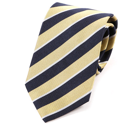 Yellow Striped Silk Tie
