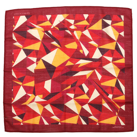 Burgundy Abstract Mountain Large Pocket Square