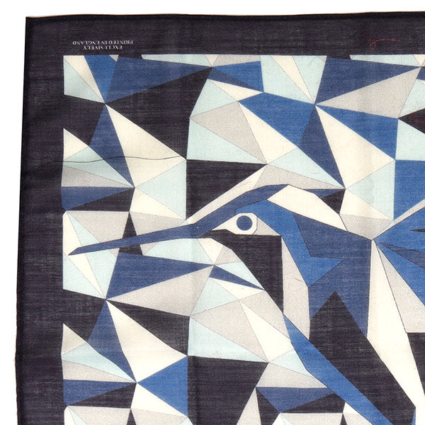 Navy Blue & White Abstract Mountain Large Pocket Square