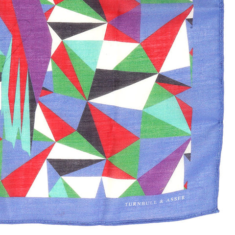 Purple Abstract Mountain Large Pocket Square