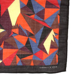 Black And Brown Abstract Mountain Large Pocket Square