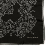 Black And Grey Heritage Large Pocket Square