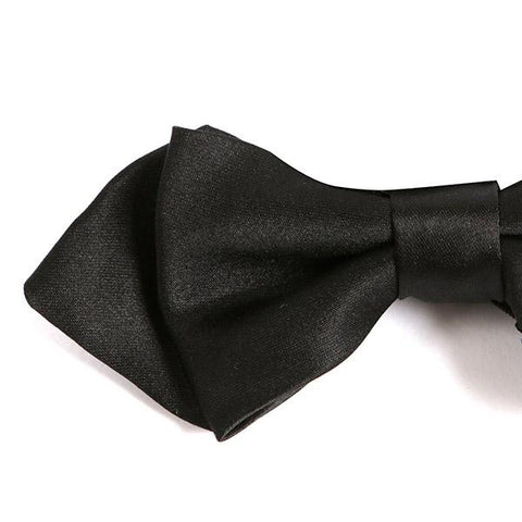 Black Diamond Small Bow Tie - Handmade Silk Wool And Knitted Ties by Tie Doctor