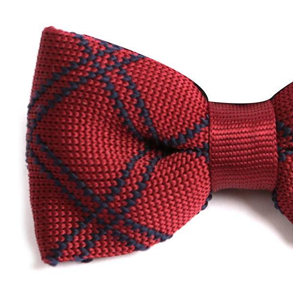 RED HEX KNITTED BOW TIE - Handmade Limited Edition Ties by Tie Doctor