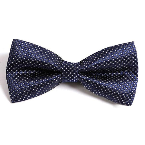 NAVY BLUE ALLSTAR BOW TIE - Handmade Silk Wool And Knitted Ties by Tie Doctor