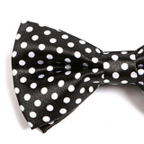 BLACK POLKA DOT BOW TIE - Handmade Silk Wool And Knitted Ties by Tie Doctor
