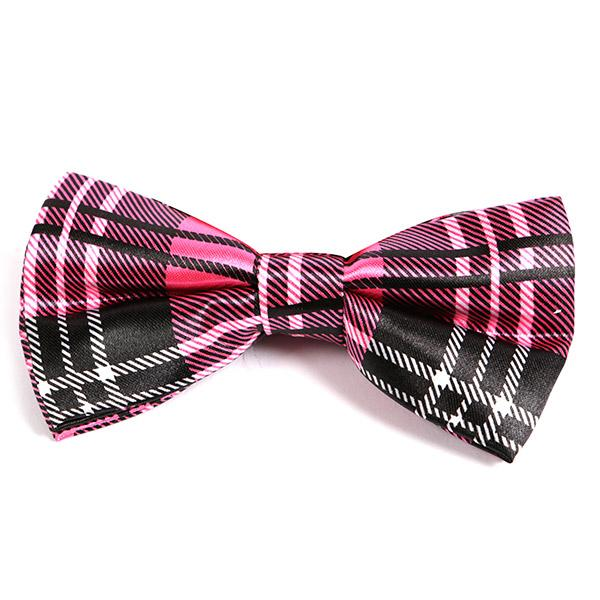PINK CHECK BOW TIE - Handmade Limited Edition Ties by Tie Doctor
