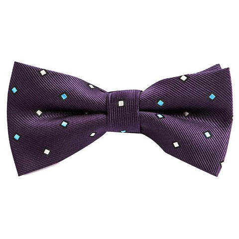 PURPLE VINTAGE DIAMOND BOW TIE - Handmade Limited Edition Ties by Tie Doctor