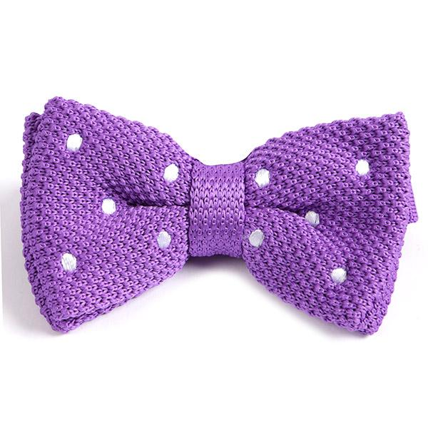 Purple Polka Dot Bow Tie - Handmade Limited Edition Ties by Tie Doctor