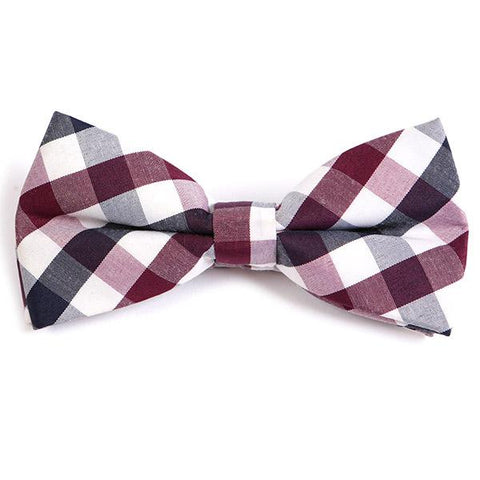 PURPLE BIG CHECK BOW TIE - Handmade Limited Edition Ties by Tie Doctor
