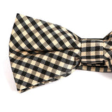 BLACK & BROWN MINI CHECK BOW TIE