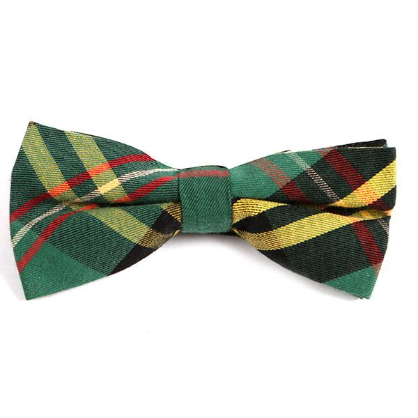 GREEN VINTAGE CHECK BOW TIE