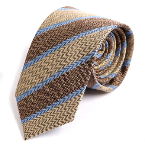 Brown Vintage Wool & Viscose tie - Handmade Silk Wool And Knitted Ties by Tie Doctor
